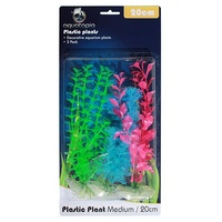 Neon Plastic Aquarium Plants - 3 Pack - 20cm
