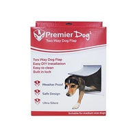 Premier Pet Dog Door 2 Way Lock - Medium Dogs (36cm x 30cm)