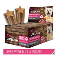 Evolution Dental Dog Treat - Liver with Rice & Potato - Single Stick
