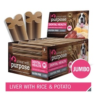 Evolution Dental Dog Treat - Jumbo - Liver with Rice & Potato - Single Stick