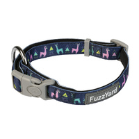 FuzzYard Dog Collar - No Probllama - Medium (20mm x 32-50cm)