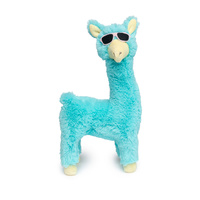 FuzzYard Soft Plush Dog Toy - Kendrick Llama - Teal - Large (28cm)