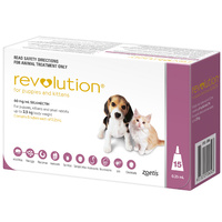 Revolution for Puppies and Kittens up to 2.5 kgs - 15 Pack - Pink