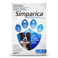 Simparica for Medium Dogs 10.1-20kg - Blue - 3 Pack