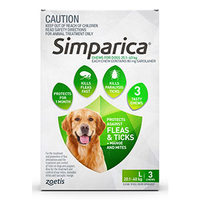 Simparica for Large Dogs 20.1-40kg - Green - 3 Pack