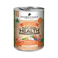 Ivory Coat Chicken Stew with Coconut Oil Wet Dog Food Can - 400g