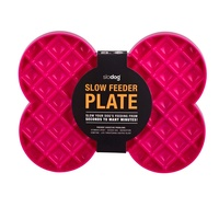 Slodog Slow Feeder Plate for Dogs - Magenta (Pink)