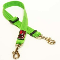 Black Dog Adjustable Double Snap Lead - Small - 45/70cm - Black