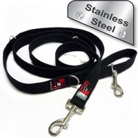 Black Dog Double End Lead Stainles Steel - Strong (2.2 Metre) - Red