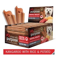 Evolution Dental Dog Treats - Kangaroo with Rice & Potato - Three Sticks