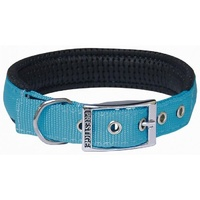 Prestige Pet Soft Padded Nylon Dog Collar - Turquoise