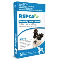 RSPCA Monthy Heartworm Tablets for Small Dogs Up To 10kg - 12 Pack (Blue)