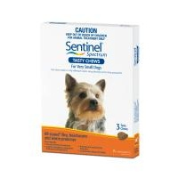 Sentinel Spectrum for Very Small Dogs up to 4 kgs - 12 Pack - Orange
