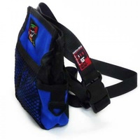 Black Dog Treat Tote with Belt - Blue