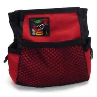 Black Dog Treat Tote with Belt - Red
