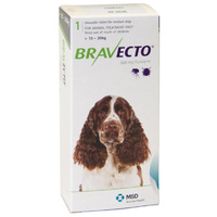 Bravecto for Medium Dogs 10-20 kg - Green - 2 TABLETS (6 months)