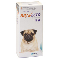 Bravecto for Small Dogs 4.5-10 kg - Orange - 2 TABLETS (6 months)
