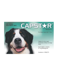 Capstar for Dogs 11.1-57 kgs - 30 Pack (5 Boxes) - Green